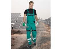Pracovní kalhoty s laclem COOL TREND reflex - ZELENÉ
