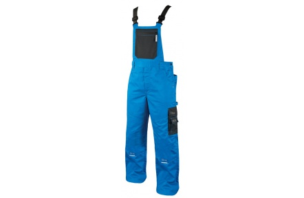 Pracovní kalhoty 4TECH s laclem modré 194cm