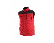 Pracovná vesta zateplená SEATLE červeno-čierna