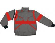 Pracovná bunda LUX EDA šedo-červená