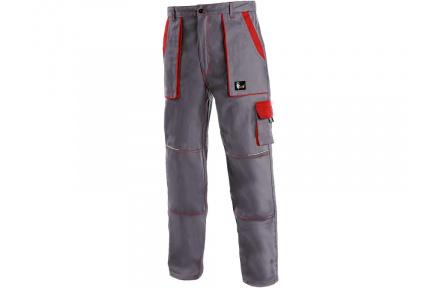 Pracovné nohavice do pása LUX JOSEF šedo-červené