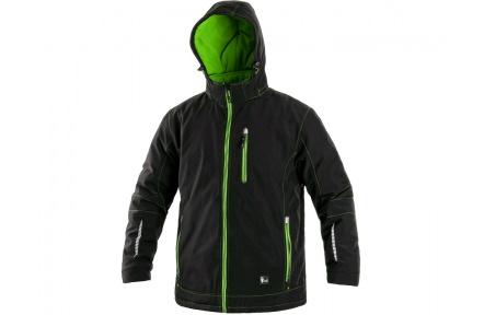 Zimní softshellová bunda KINGSTON, pánská, černo-zelená