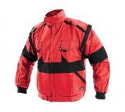 Pracovná bunda LUX EDA červeno-čierna