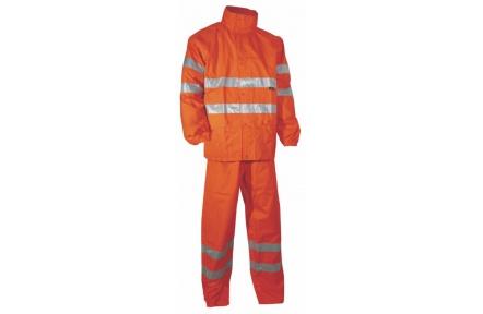 Reflexná odev do dažďa YORK oranžový nepremokavý