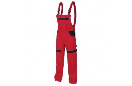 Pracovné nohavice s trakmi COOL TREND červené
