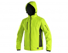 Softshellová bunda DURHAM žluto-černá
