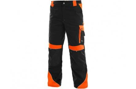 Pracovné nohavice SIRIUS Brighton čierno / oranžové