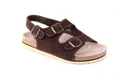 Dámske sandále kožené hnedé Dr.CORK FILL