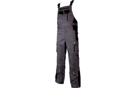 Pracovné nohavice s trakmi VISION šedo-oranžové