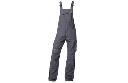 Pracovní kalhoty s laclem URBAN+ tmavě šedé