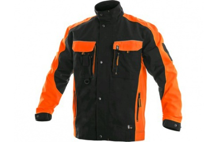Pracovná blúza SIRIUS Brighton čierno / oranžová