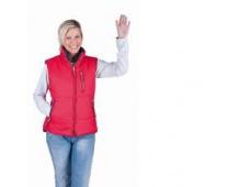 Dámska zimná vesta ROSEVILLE červená