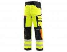 Kalhoty CXS BENSON výstražné, pánské, žluto-černé