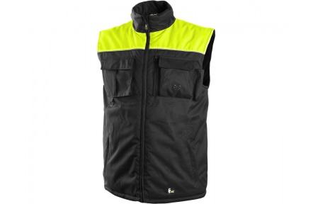 Pracovná vesta zateplená SEATLE čierno-žltá