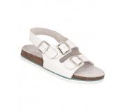 Dámske sandále biele kožené Cork Megi