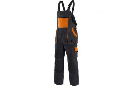 Pracovní kalhoty lacl LUXY ROBIN černo-oranžové