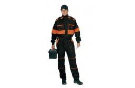 Pracovná kombinéza LUX Robert čierno / oranžová