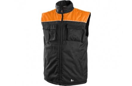 Pracovná vesta zateplená SEATLE čierno-oranžová